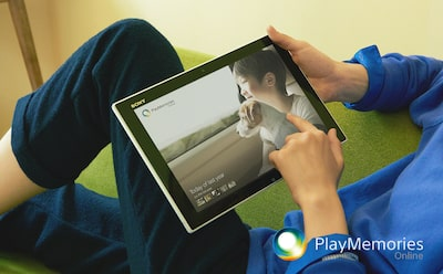 PlayMemories Online и планшеты Sony