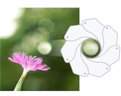 Круглая диафрагма для плавного эффекта «боке»