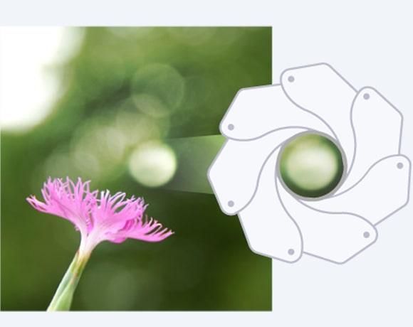 Круговая диафрагма для плавного эффекта боке